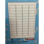 Giấy in mã vạch A4  132, 48 tem 45,7x21,2mm