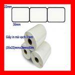 cuộn decal nhựa pvc 3 tem 35x22mm