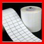 cuộn tem nhãn nhựa 4 tem 20x10mm