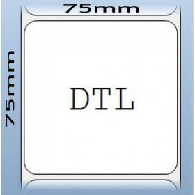 Cuộn giấy decal cảm nhiệt 1 tem 75x75mm, dài 30m