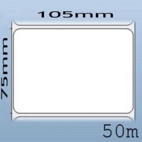 Giấy decal NHIỆT 1 tem 105x75mm, 50m (in tem nhãn mã vạch)
