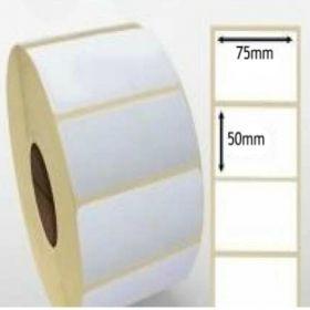 Giấy decal cảm nhiệt 1 tem 75x50mm, dài 30m