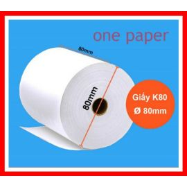 mẫu giấy in nhiệt one paper k80 x 80mm